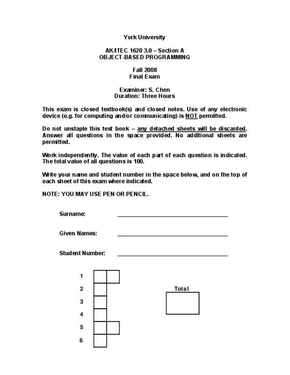 ITEC 1620 Study Guide - Fall 2012, Final - Circular Buffer