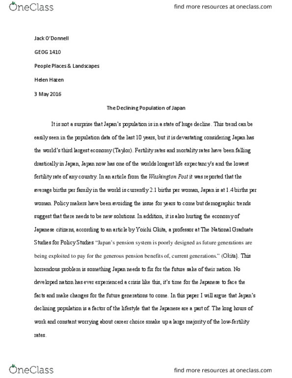 geog  textbook notes   spring  chapter essay paper