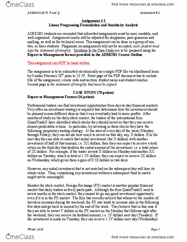 ADM 3326 Lecture Notes - Winter 2014, Lecture 7 - Proprietary