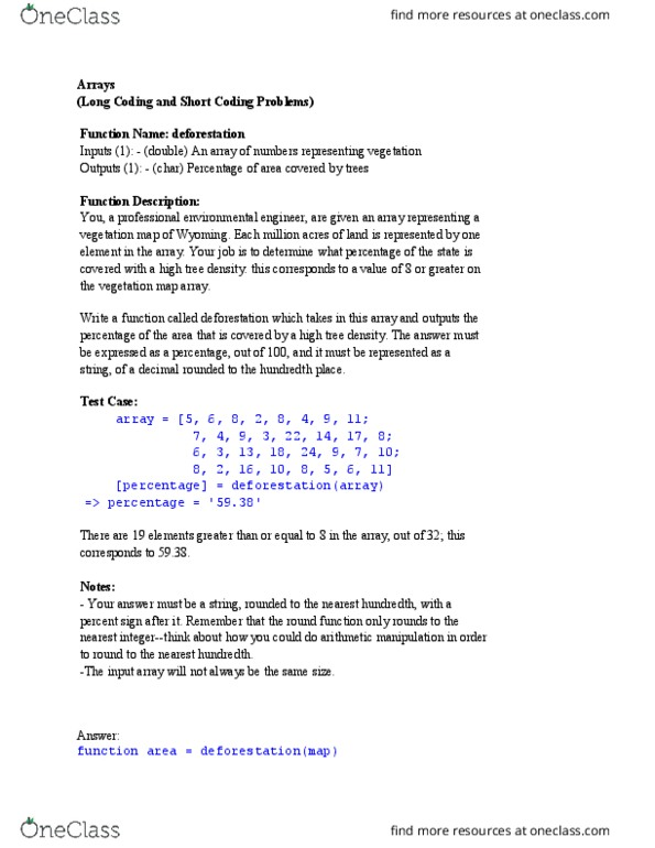 CS 1371 Lecture Notes - Lecture 6: Linear Algebra, Seed, Binary Logarithm