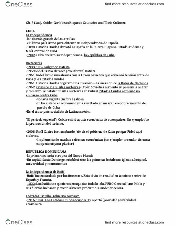 All Educational Materials for Mariela De La Torre - OneClass