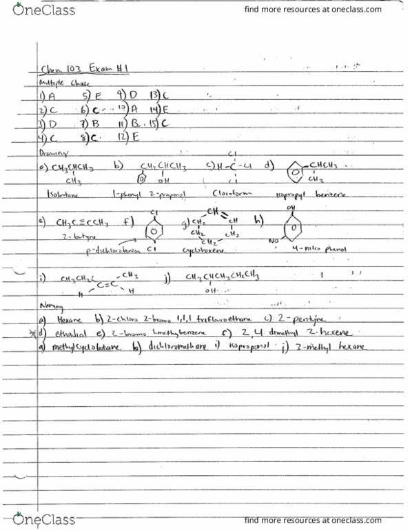 Chem 2 Final Exam