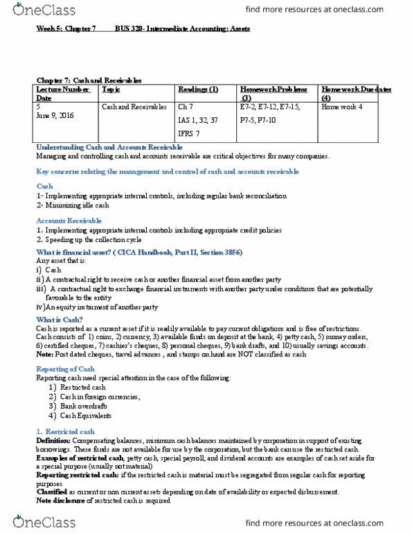 Class Notes for Mahmoudian Fereshteh - OneClass